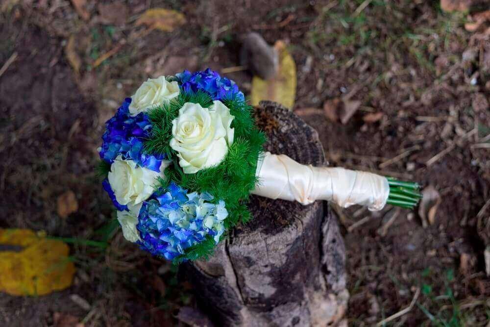 Buchet Nunta Hortensie Albastra Aranjamente Florale Nunta